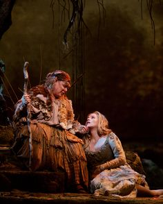 "Metropolitan Opera ""Rusalka"" - Dolora Zajick (Merola 1983) as Je-ibaba and Renée Fleming in the title role, photo by Ken Howard"
