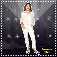INSPIRACIONES VELVET: ALEXA CHUNG, LA ETERNA 'IT GIRL'  A sus 31 años, la británica es un icono internacional de la moda.  Alexa mezcla lo femenino con algunos toques masculinos, precursora de los zapatos planos estilo bailarina, en su armario destacan las camisas blancas, poleras con motivos rockeros, suéteres clásicos, vestidos de corte sesenteros, abrigos amplios y sus favoritos: los jeans.