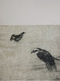 Ben Reid, Thanks To The Tomtit, Drypoint and intagilo on 685 x 525 mm paper, from an edition of 10, 2009. Contact gallery regarding availability.