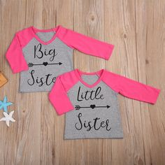 Just in: t Baby Kids Girls T-shirt  Big Sister/Little Sister Cotton Long Sleeve T-shirt Tops http://foggy-mountain-country-store.myshopify.com/products/t-baby-kids-girls-t-shirt-big-sister-little-sister-cotton-long-sleeve-t-shirt-tops?utm_campaign=crowdfire&utm_content=crowdfire&utm_medium=social&utm_source=pinterest