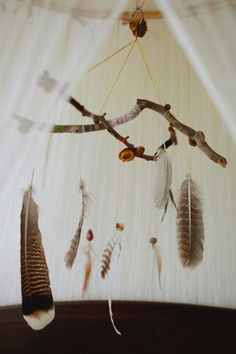 To make for over the changing table? wild mobiles #handmade #DIY #decoration