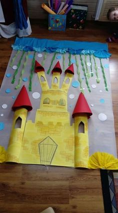 Diy And Crafts, Crafts For Kids, Arts And Crafts, Paper Crafts, Art Drawings For Kids, Art For Kids, Castle Classroom, Atelier Theme, Fairy Tale Crafts
