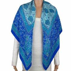 Square Scarves Silk 100 Percent Crepe Accessory For Spring Summer Dress: Amazon.co.uk: Clothing