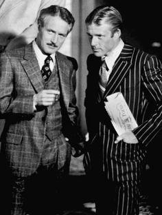 """Paul Newman y Robert Redford en """"El Golpe"""", 1973"""