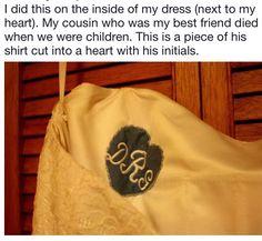 Wedding Memorial, Inside Me, Cut Shirts, I Dress, Initials, Best Friends, Memories, Cut Up Shirts, Beat Friends
