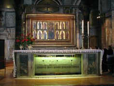 TOMB OF THE MARK THE EVANGELIST - Copts believe that the head of St. Mark remains in a church named after him in Alexandria, and parts of his relics are in St. Mark's Cairo's Cathedral. The rest of his relics are in the San Marco Cathedral in Venice, Italy.