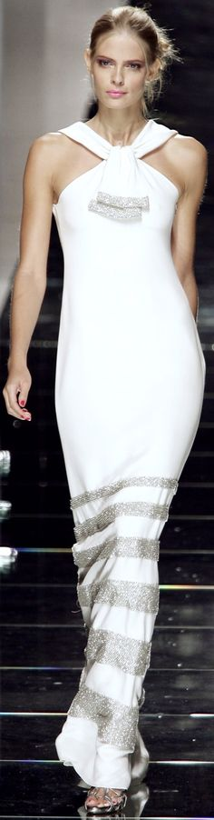 I like the silhouette of this, maybe tailor can recreate? Valentino, The House of Beccaria [maybe Fall-Winter 2014-2015?] white & silver