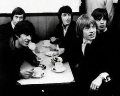 Rolling Stones drinking tea