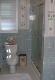 Website Photo Gallery Examples Blue bathroom renovation done by Pam of Retro Renovations