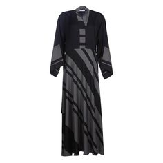 Flare Diagonal Abaya Abayas, Duster Coat, Flare, Dresses With Sleeves, Long Sleeve, Jackets, Fashion, Down Jackets, Moda