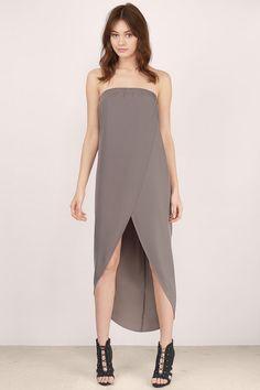True Love Strapless Midi Dress at Tobi.com  | #SHOPTobi | New Arrivals | Febuary 16'