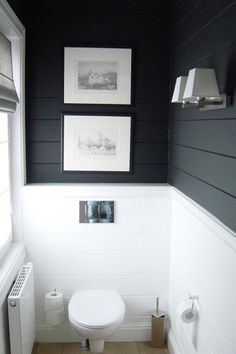 Half bathroom ideas and they're perfect for guests. They don't have to be as functional as the family bathrooms, so hope you enjoy these ideas. Update your bathroom decor quickly with these budget-friendly, charming half bathroom ideas # bathroom Downstairs Bathroom, Bathroom Renos, Laundry In Bathroom, Bathroom Ideas, Bathroom Small, Bathroom Designs, Half Bathrooms, Shiplap Bathroom Wall, Laundry Rooms