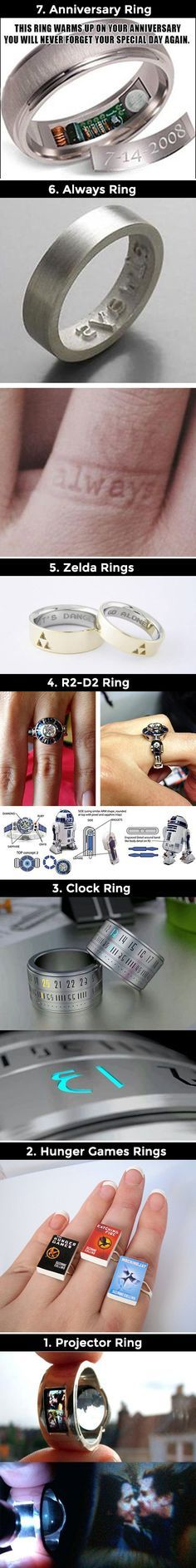 We have rounded up a batch of the geekiest rings you will ever see.haha