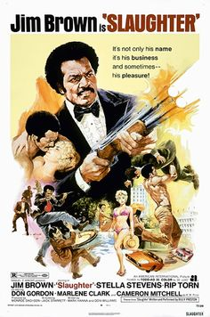 Slaughter Us Poster Art Jim Brown Stella Stevens (Blonde (Yellow)) 1972 Movie Poster Masterprint x Chuck Norris, Cult Movies, Action Movies, Indie Movies, Comedy Movies, Horror Movies, African American Movies, Jim Brown, Movie Posters