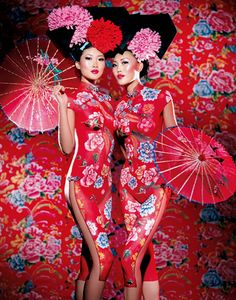 I don't think these are geishas, I think they are Chinese but what they are for sure are beautiful