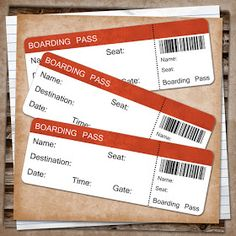 U printables by RebeccaB: Smash Journal Free Boarding Pass Printable