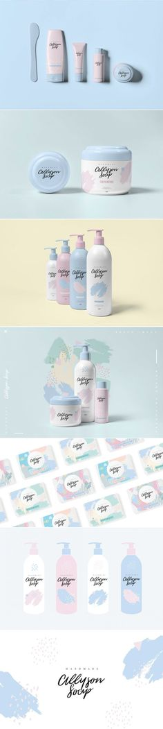 Allyson Soap's Light and Feminine Branding and Packaging — The Dieline | Packaging & Branding Design & Innovation News