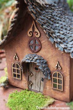 Fairy door miniature dollhouse polymer clay