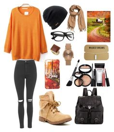 """#Autumn"" by ellen2104 ❤ liked on Polyvore featuring moda, Topshop, Coal, H&M, Rock & Candy, Proenza Schouler, Dorothy Perkins e Laura Geller"