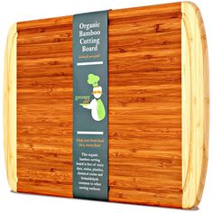 Organic Bamboo Cutting Board w/ LIFETIME REPLACEMENT WARRANTY - Best Extra Large Wood Chopping Board with grooves for juices.