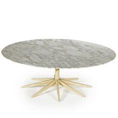 Richard Schultz; Enameled Metal and Marble Coffee Table for Knoll, 1950s.
