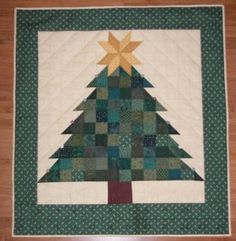 Christmas tree with star advent quilt