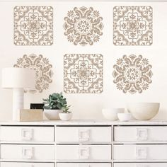 Dress up your walls like you dress up yourself: it's all about the diamonds, baby!   More decals
