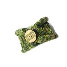 Knit Cuff Hand Knit Cuff Green Cuff Knit by ArlenesBoutique