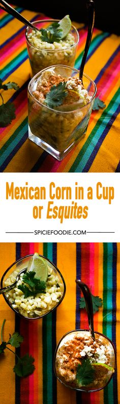 #Esquites or #Mexican Corn in a Cup | #streetfood #snack #vegetarian