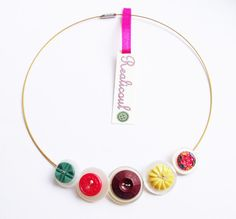 Vintage Necklace button buttons handmade antique by realicoul, £14.00