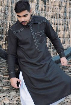 Great.. Gents Kurta Design, Boys Kurta Design, Nigerian Men Fashion, Indian Men Fashion, Pathani Kurta Men, Punjabi Kurta Pajama Men, Wedding Kurta For Men, Mens Shalwar Kameez, Semi Formal Wear