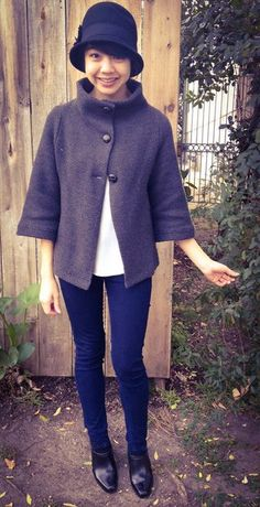 Before heading to your favorite spot at the neighborhood cafe, button into this pagoda-esque cardigan. Its ash hue, diamond-textured knit, and tri-button. Global Style, Swing Coats, Fashion Gallery, Long Sleeve Tunic, Vintage Sweaters, Modcloth, Passion For Fashion, Beautiful Outfits, Sweaters For Women