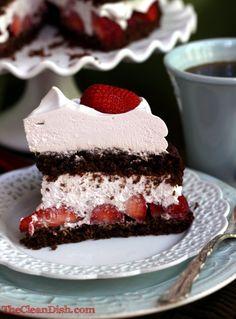 Chocolate Strawberry Cream Cake (grain-free, dairy-free, processed sugar-free)