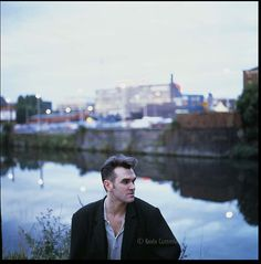 Morrissey behind the old Granada studios in Manchester ― photo by Kevin Cummins (1989).