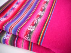 South American Fabric Aguayo Woven Textile by sweetllamasupplies, $26.00