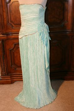 1980's Mary McFadden Mint Green Strapless by VintageVogueClothing, $100.00