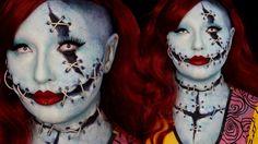 Sally Nigthmare Before Christmas Special FX Halloween Makeup Tutorial by Jordan Hanz #HalloweenMakeupIdea #SpecialFX #TimBurton