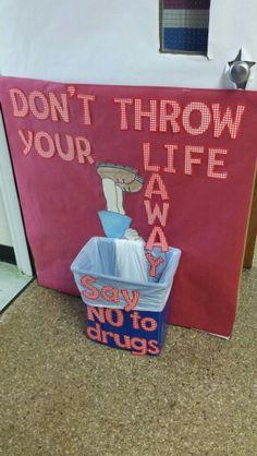 Drug free week door & Drug Free poster - Red ribbon week - Tanya Price | Bulletin Boards ...