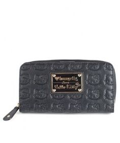 Hello Kitty Black Embossed Face Zip Wallet by Loungefly. $36.95. HELLO KITTY BLACK EMBOSSED FACE ZIP WALLET. EMBOSSED FAUX LEATHER WALLET WITH METAL PLAQUE DETAIL.