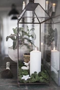 Adorable Vintage Christmas Lantern Decoration Ideas 51