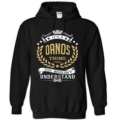 DANOS - #shirt style #cute tee. GET YOURS  => https://www.sunfrog.com/No-Category/DANOS-3631-Black-Hoodie.html?id=60505