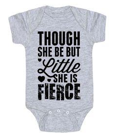 Light Gray 'She is Fierce' Bodysuit - Infant