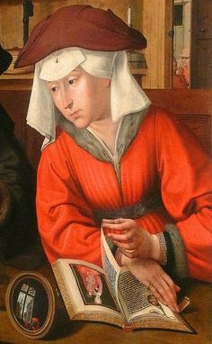 The Moneylender and his Wife (detail), by Quentin Massys (Metsys) (Dutch, 1465/66-1530)