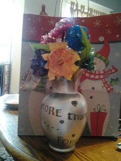 more than mother and daughter. . .  forever friends pop bottle flowers