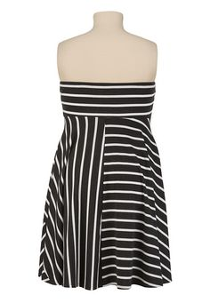 Striped Tube Dress - maurices.com Back view