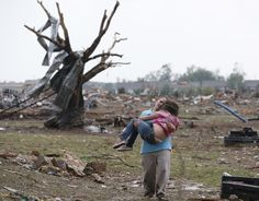 13 Heartbreaking Photos From The Aftermath Of The Oklahoma Tornado. I watched it all on the news today. Our sirens went off and at first we thought we were in the path of it but it missed us. We got lucky, but many others were not as fortunate