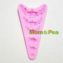 Mom & pea 1323 darmowa wysyłka flower deco mold food grade silicone mold cake decoration kremówka ciasto 3d(China)