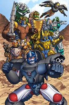 Beast wars Season 1 Maximals by Dan-the-artguy