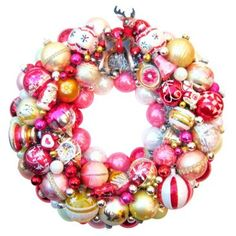 Check out this item at One Kings Lane! Rudolph Glass Ornament Wreath