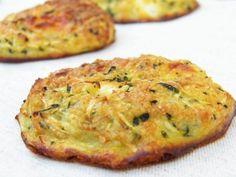 galettes-courgette-feta -1 courgette moyenne -1 gros oignon -2 œufs -60g de feta -60 g de chapelure -sel, poivre -Quelques feuilles de basilic frais